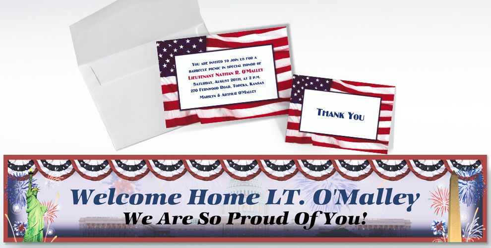 Welcome Home (Military) Custom Invitations & Thank You Notes