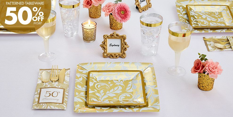 Gold Anniversary 50 Off Patterned Tableware MSRP