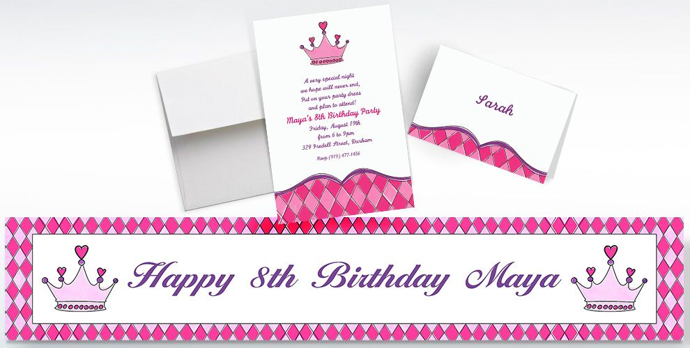 Princess Custom Invitations & Thank You Notes