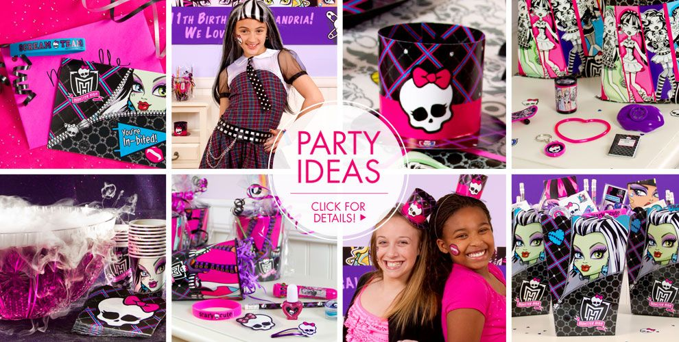 Monster High Party Supplies Monster High Birthday Ideas Party City – Monster High Birthday Invitations Free