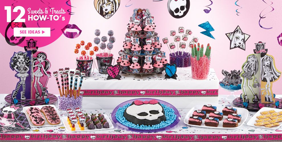 Monster High Party Supplies – Sweets & Treats