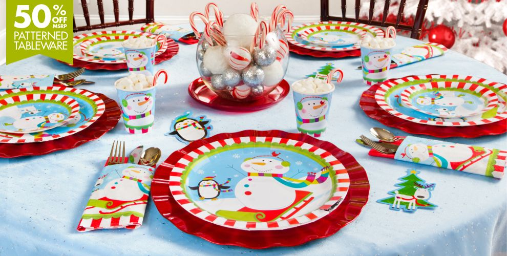 Joyful Snowman Party Supplies #1