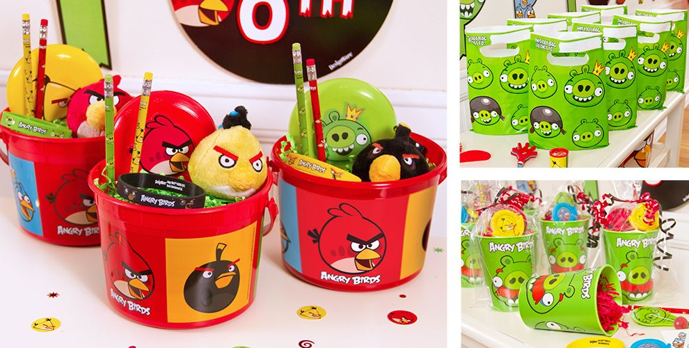Angry Birds Party Favors - Candy, Tattoos, Wristbands, Toys & More ...