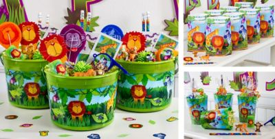 Attractive Animal Party Theme Decorations Part - 3: Jungle Animals Party Favors - Toys, Wristbands, Tattoos U0026 More - Party City