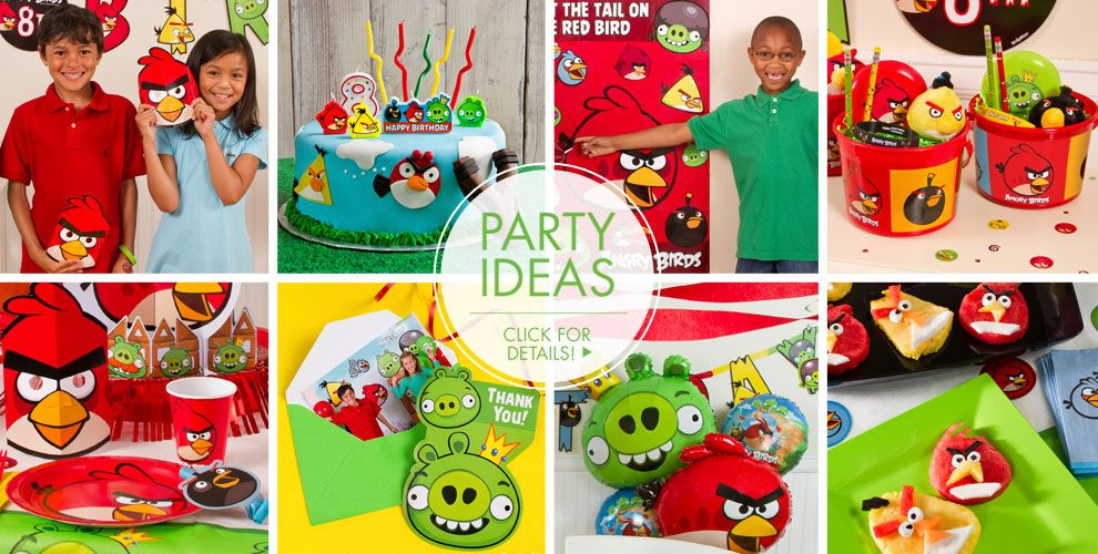 Angry birds party supplies angry birds birthday ideas for Angry birds party decoration ideas