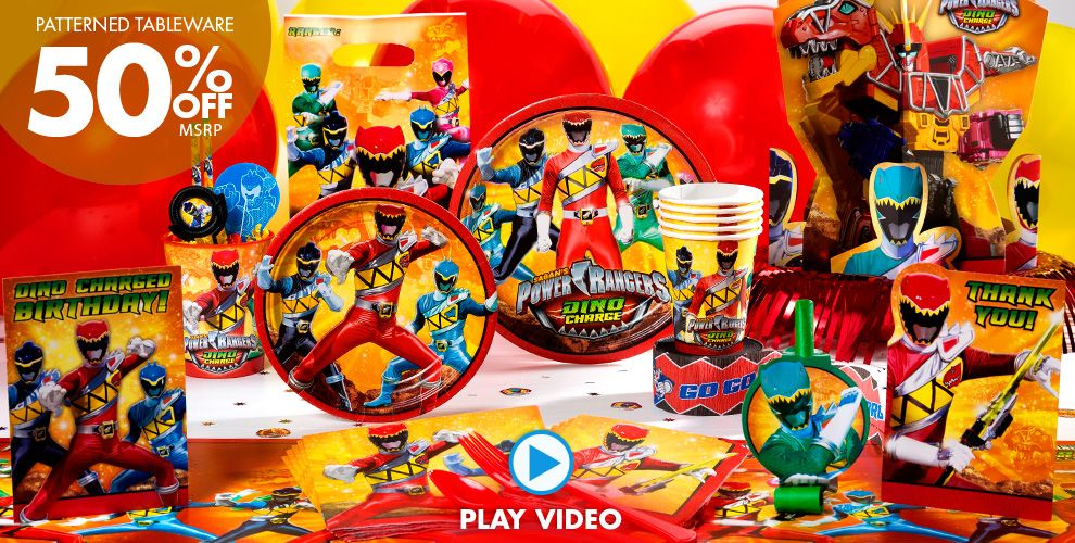 Power Rangers Party Supplies #1