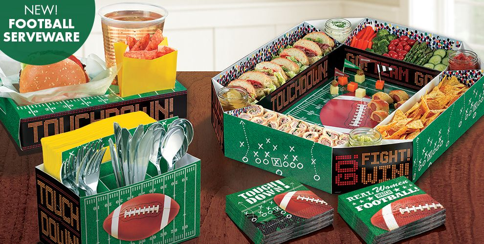 New! Football Serveware — NFL Oakland Raiders Party Supplies