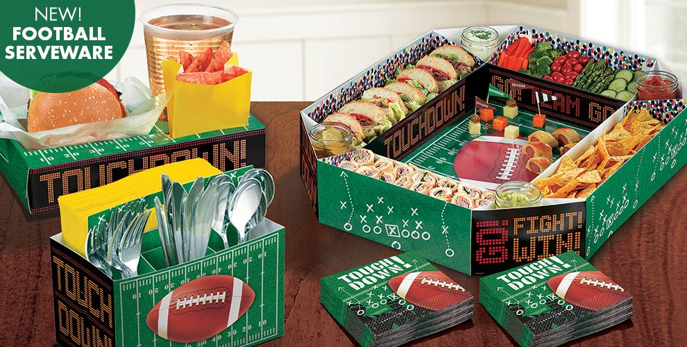Football party supplies football decorations favors for Super bowl party items