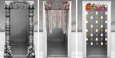 Halloween Door Decorations  Halloween Door Curtains  ~ 082904_Halloween Door Decorations