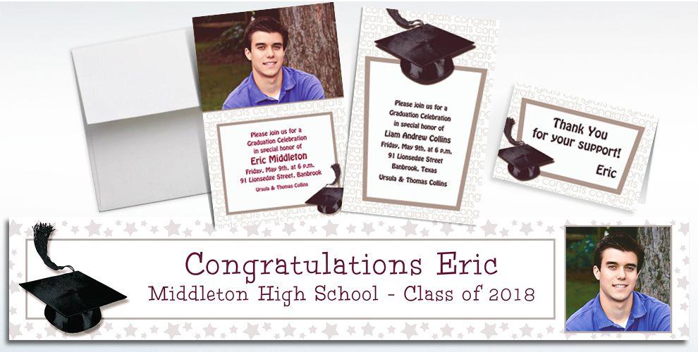 Custom White Graduation Invitations