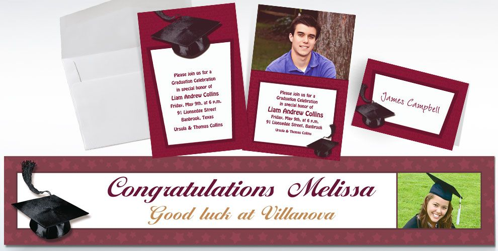Custom Berry Graduation Invitations