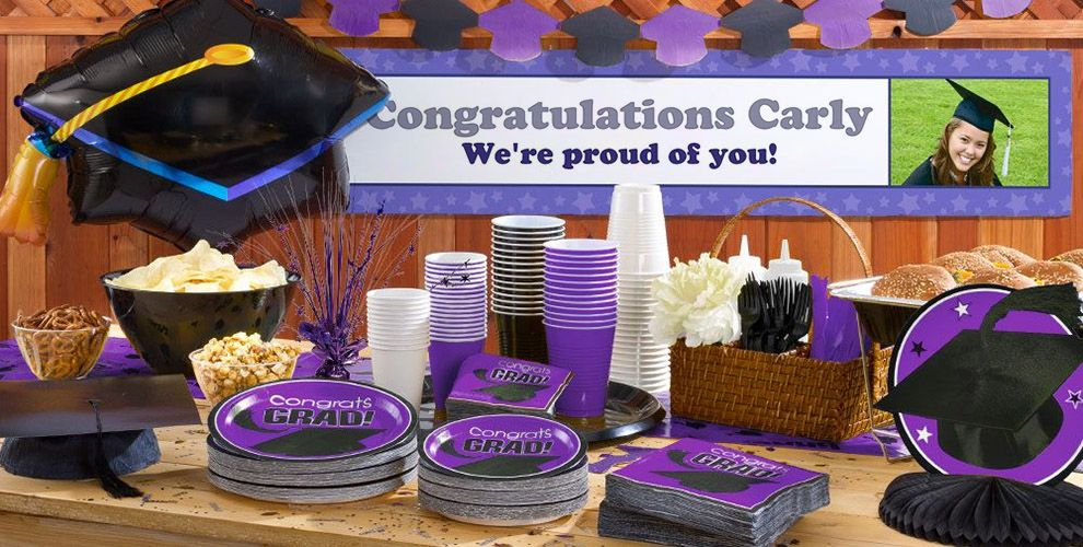 Custom Purple Graduation Banner