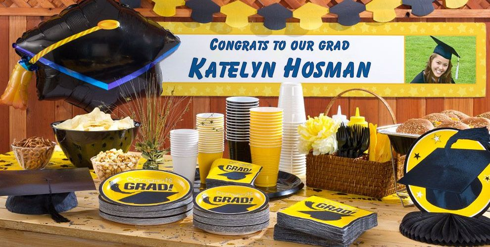 Custom Yellow Graduation Banner