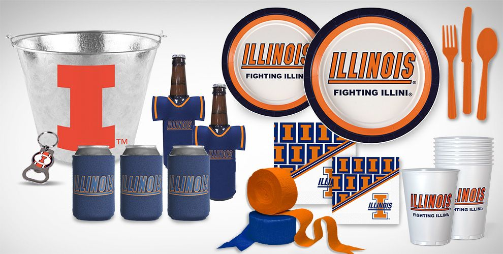 Illinois Fighting Illini Party Supplies