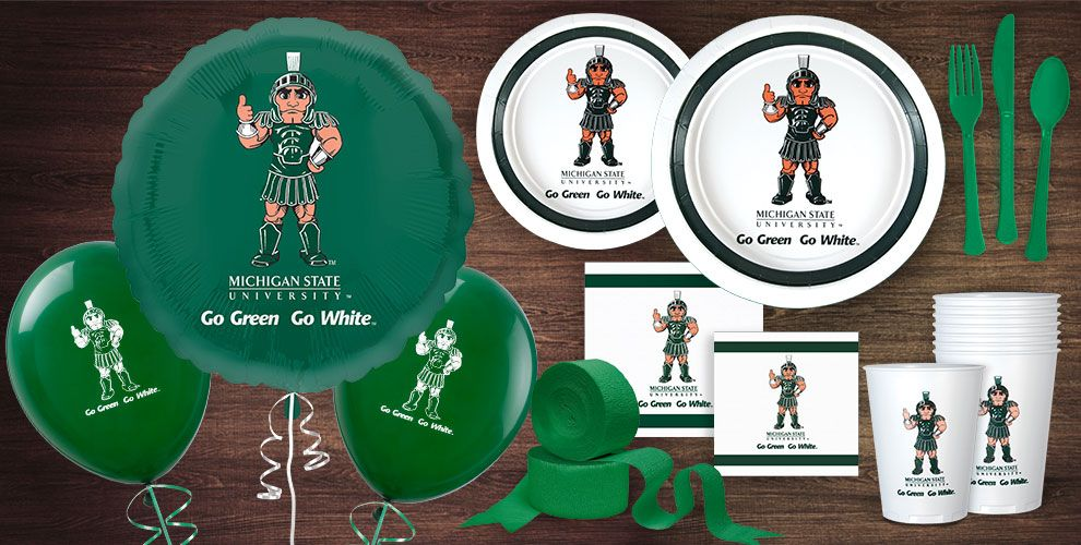 Micigan Spartans Party Supplies