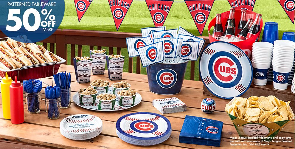 MLB Chicago Cubs Party Supplies 50% off Patterned Tableware MSRP