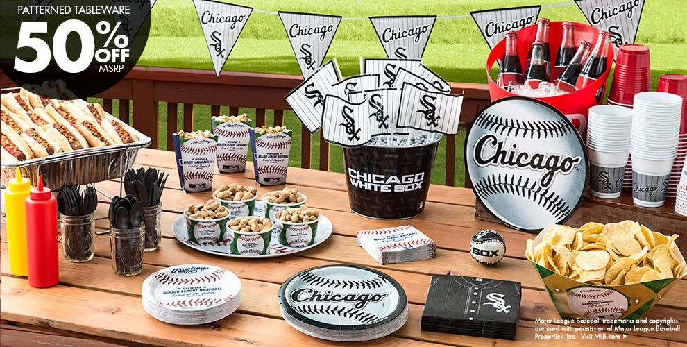 MLB Chicago White Sox Party Supplies 50% off Patterned Tableware MSRP