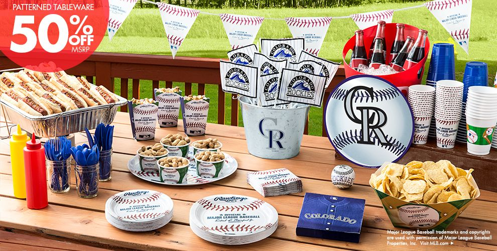 MLB Colorado Rockies Party Supplies 50% off Patterned Tableware MSRP