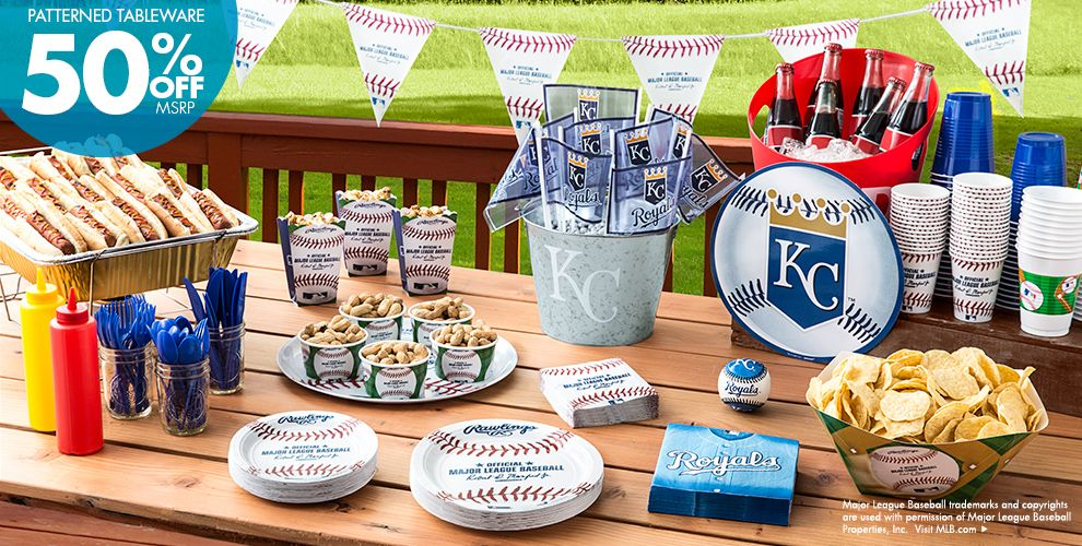 MLB Kansas City Royals Party Supplies 50% off Patterned Tableware MSRP