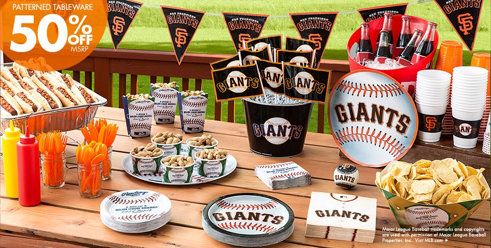 Patterned Tableware 50% off MSRP — MLB San Francisco Giants Party Supplies