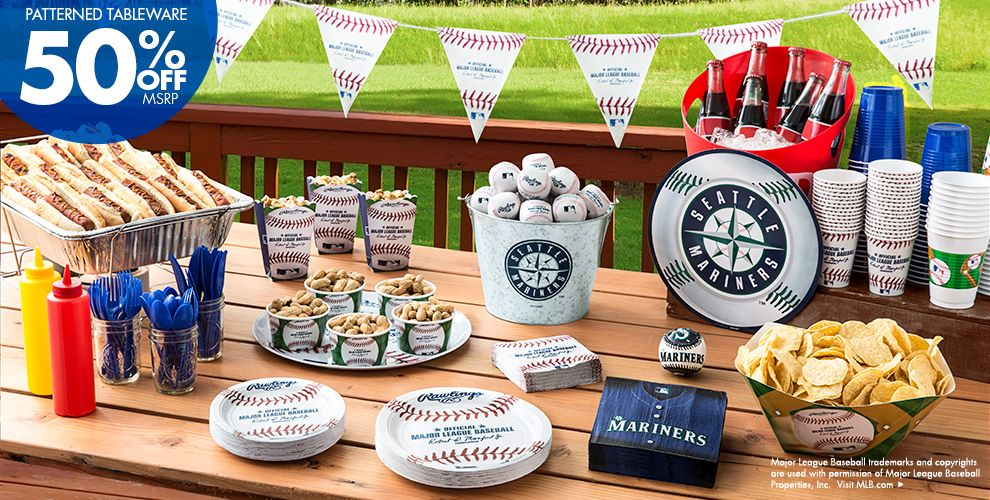 Patterned Tableware 50% off MSRP — MLB Seattle Mariners Party Supplies