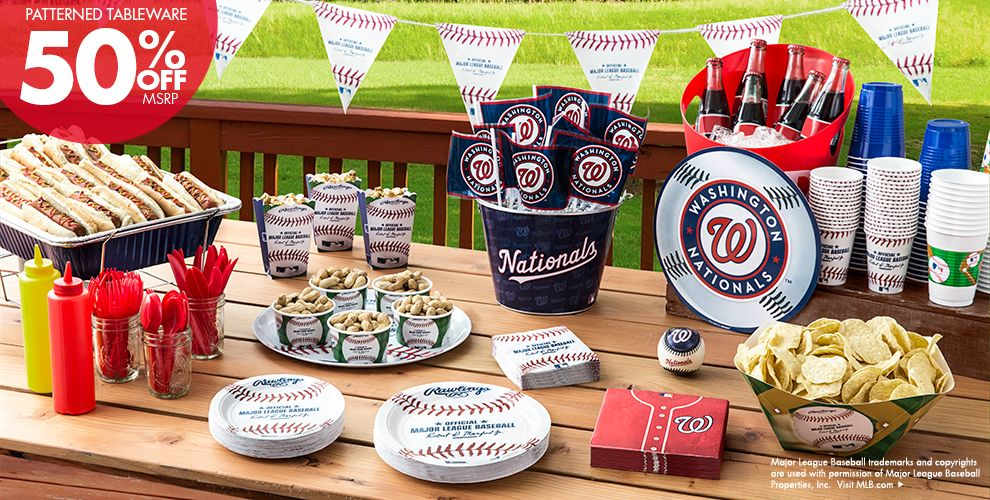 Patterned Tableware 50% off MSRP — MLB Washington Nationals Party Supplies