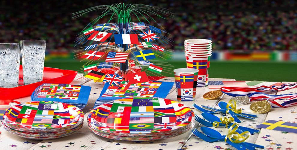 International Flag Party Supplies