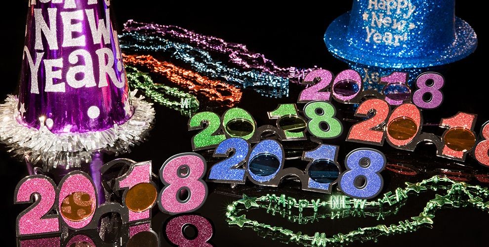 colorful new year decoration - photo #9