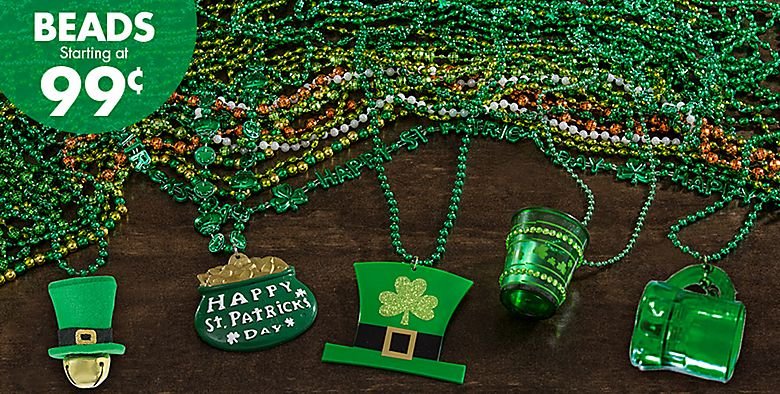 St. Patrick's Day Beads starting at 99¢