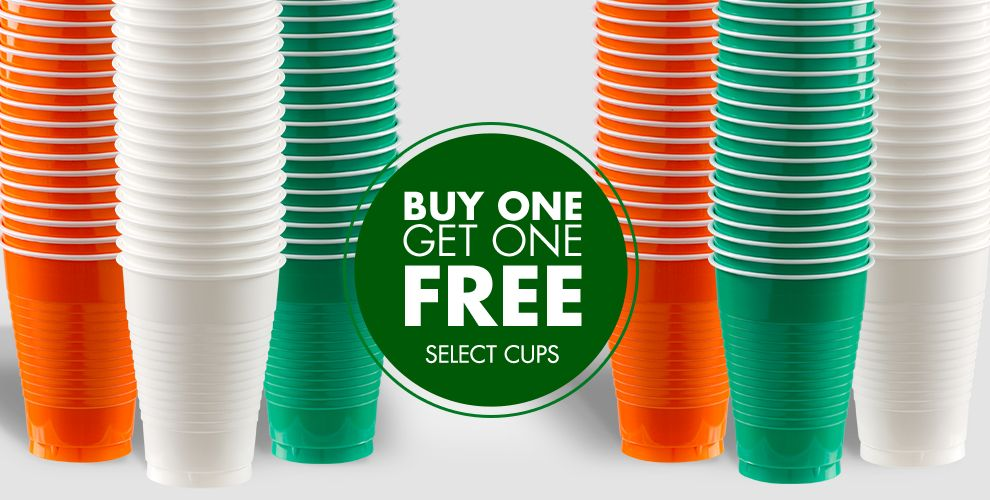 Plastic Cups and Stemware - Buy One Get One Free on Select Cups