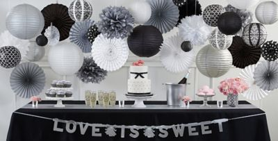 Black and White Wedding Party Supplies Party City