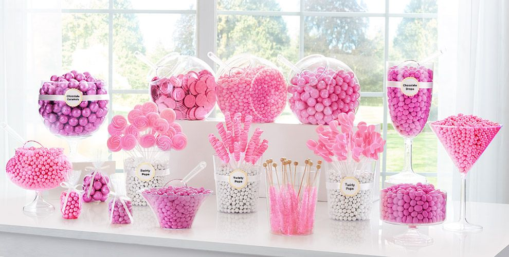 Bright Pink Candy Buffet Now with Chocolate