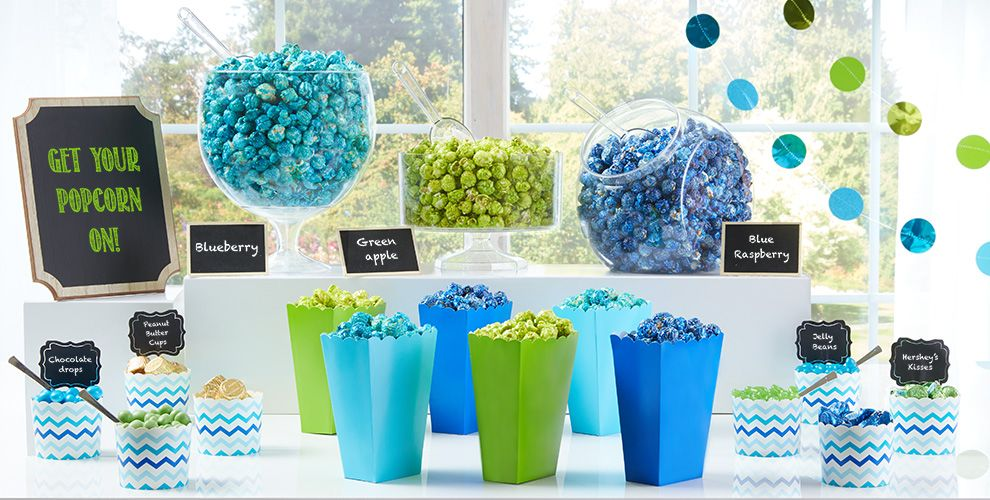 Caribbean Blue Candy Buffet