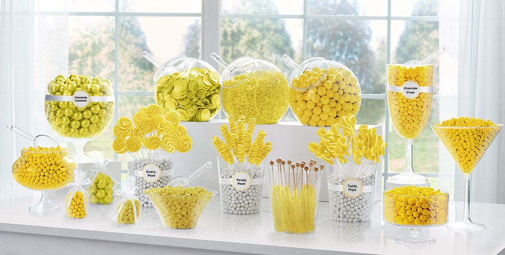 Yellow Candy Buffet
