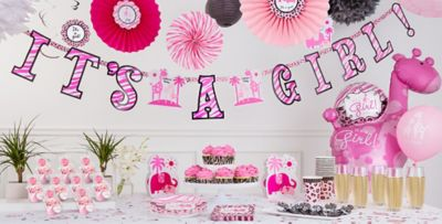 Attractive ... Pink Safari Baby Shower Party Supplies ...