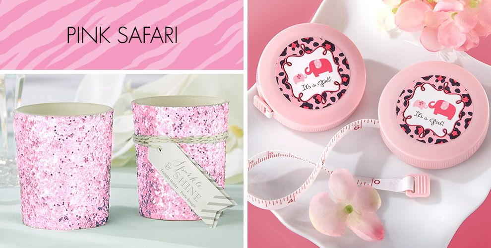 Baby Shower Favors Canada ~ Pink safari baby shower party supplies city canada