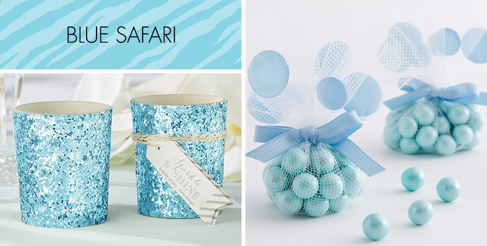 Blue safari baby shower party supplies negle Images