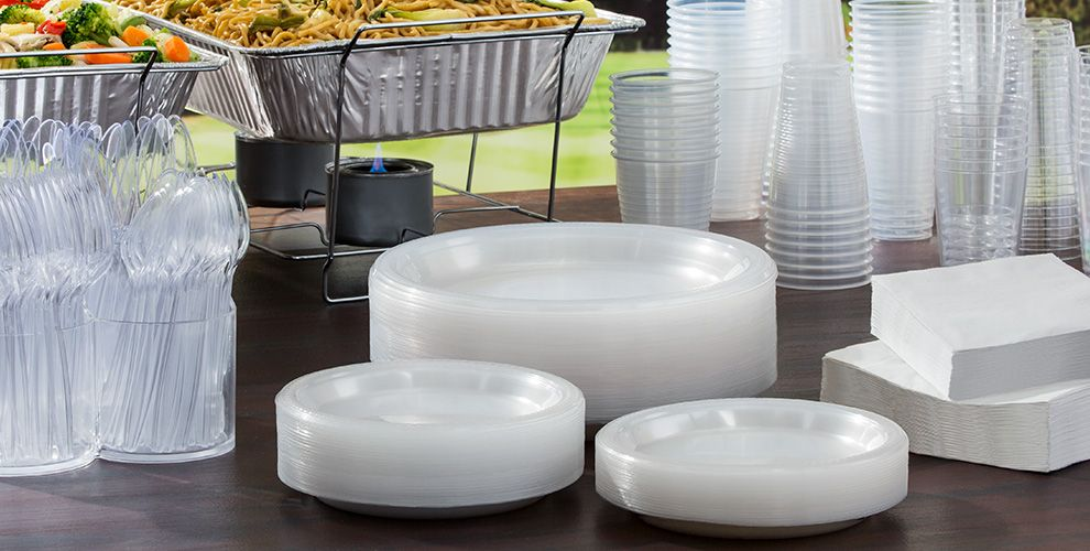 Clear Solid Color Tableware