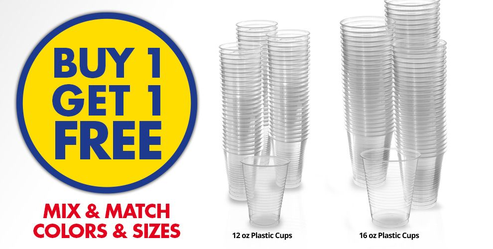Buy 1 Get 1 Free – Mix & Match Colors &amp Sizes — Clear Tableware