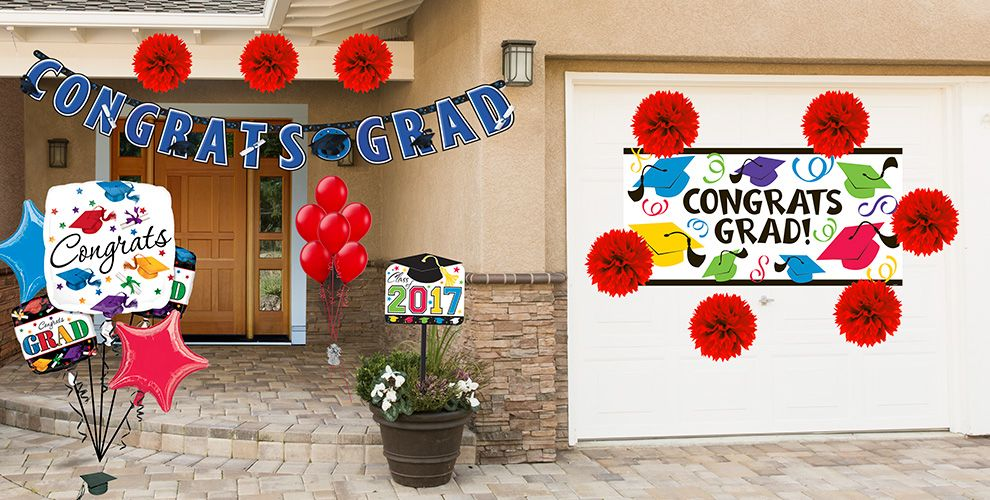Colorful Brights Graduation Decorations