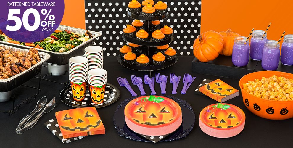 Perfect pumpkin halloween party supplies party city for Halloween party favor ideas