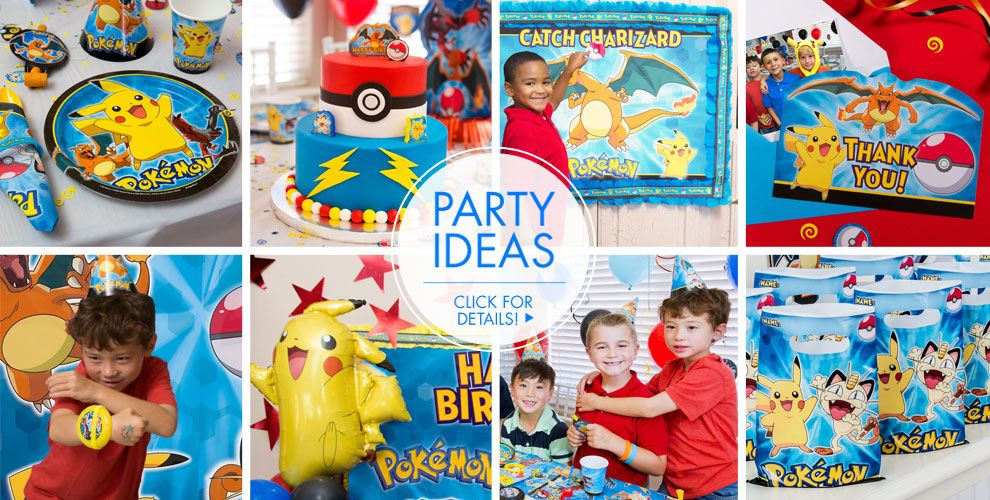 Pokemon Party Supplies Pokemon Birthday Party City - Childrens birthday party ideas taunton