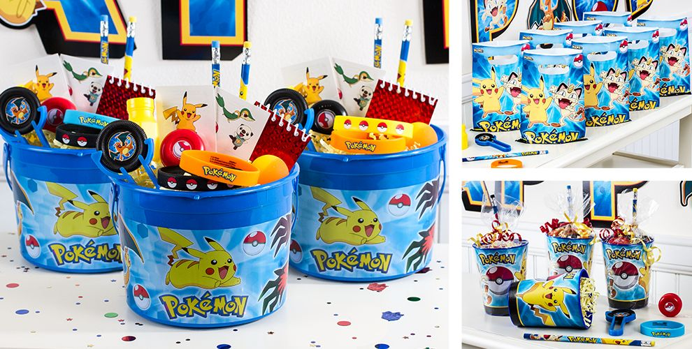 Pokemon Party Favors - Tattoos, Wristbands, Toys, Favor ...