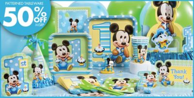 Mickey Mouse 1st Birthday Decorations Image Inspiration of Cake