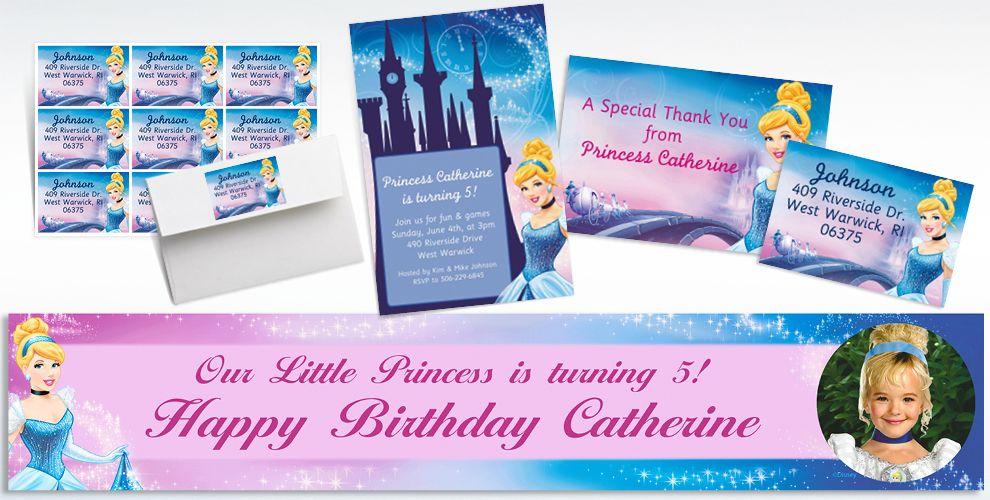 Cinderella Custom Invitations & Thank You Notes