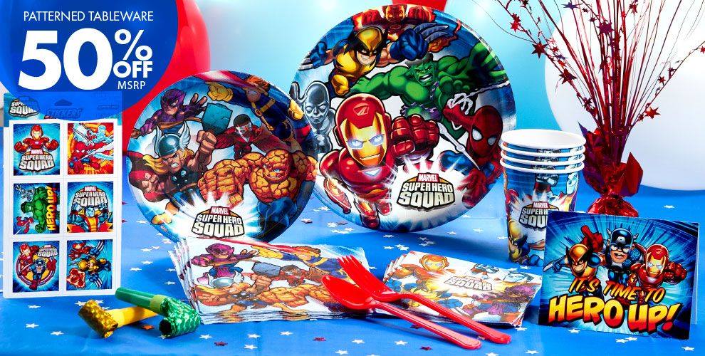 Marvel SuperHero Party Supplies