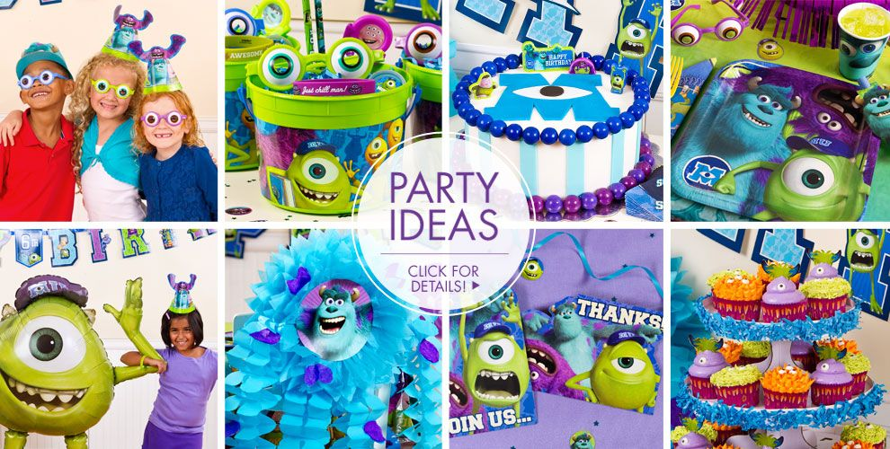 Monsters U – Party Ideas