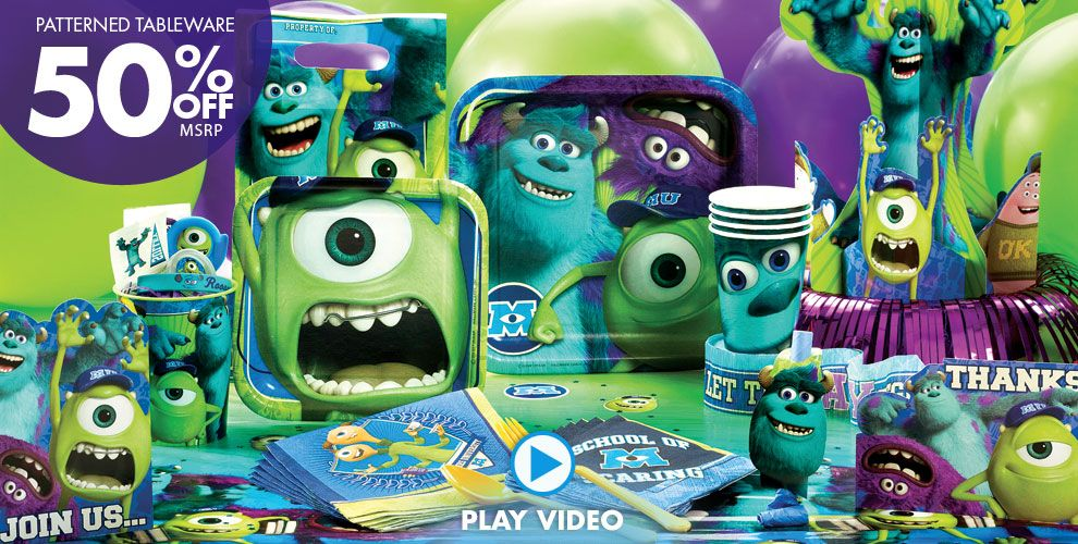 Monsters U Party Supplies #1