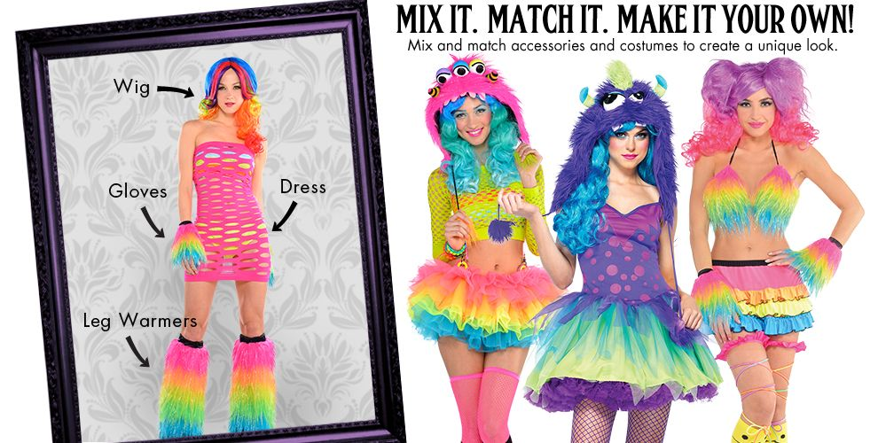 Eletric Party Raver Womens Mix & Match #1