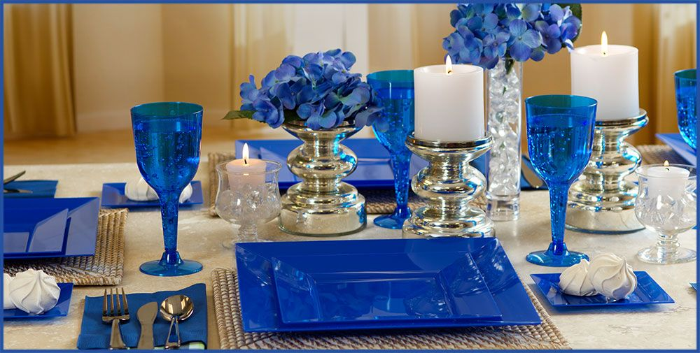 Navy Blue Patterned Tableware 50% Off MSRP